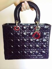 Сумка lady Dior б/у новая