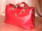 Итальянская сумка красного цвета от marina galanti